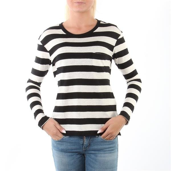 "Levi's® Long-Sleeve Perfect Pocket Tee ""Striped Black/White"""